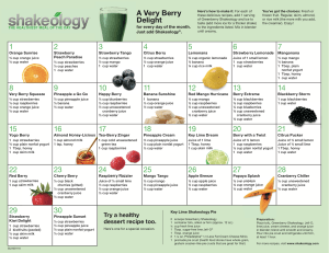 Greenberry Recipe Calendar 1