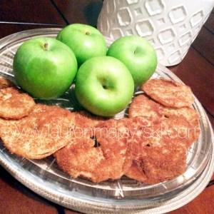 Clean Fried Apple Cinnamon Rings