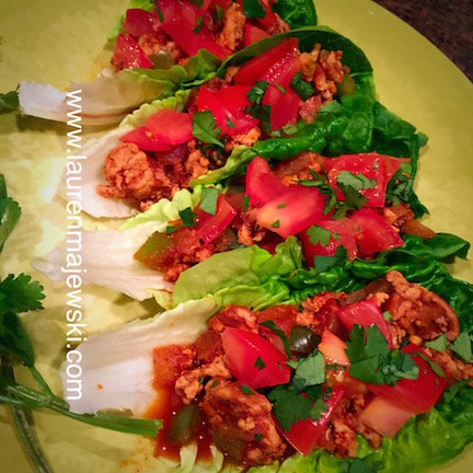 Turkey Lettuce Wraps Close up
