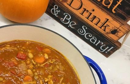 Harvest Pumpkin Lentil Chicken Chili