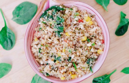 Roasted Corn Quinoa Salad