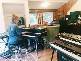 Home in the studio, writing new songs and finding balance all over again.