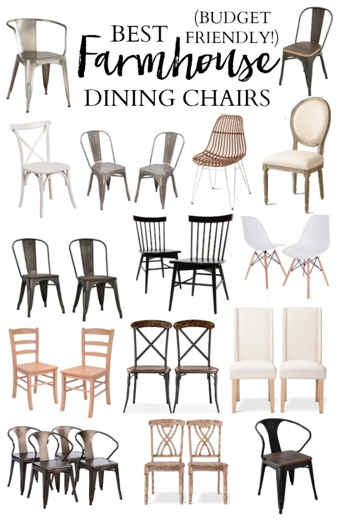 A roundup of the best farmhouse dining chairs to make a statement around your farmhouse dining table, all within budget!