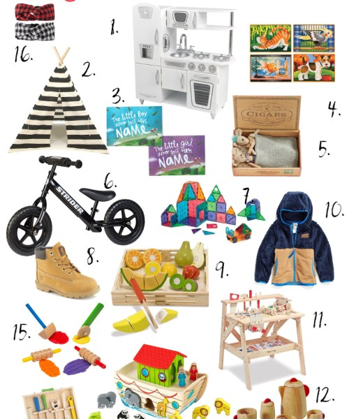 Holiday Gift Guide // Toddlers Age 1-3