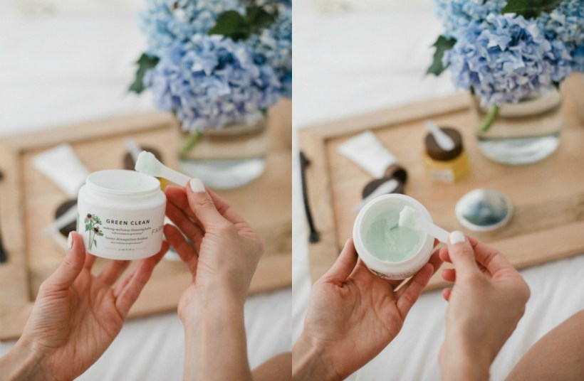 Connecticut Life and style blogger Lauren McBride shares 4 of Farmacy Beauty's best seller clean skincare products, including Green Clean, Honey Drop, Honey Potion, and Green Screen.