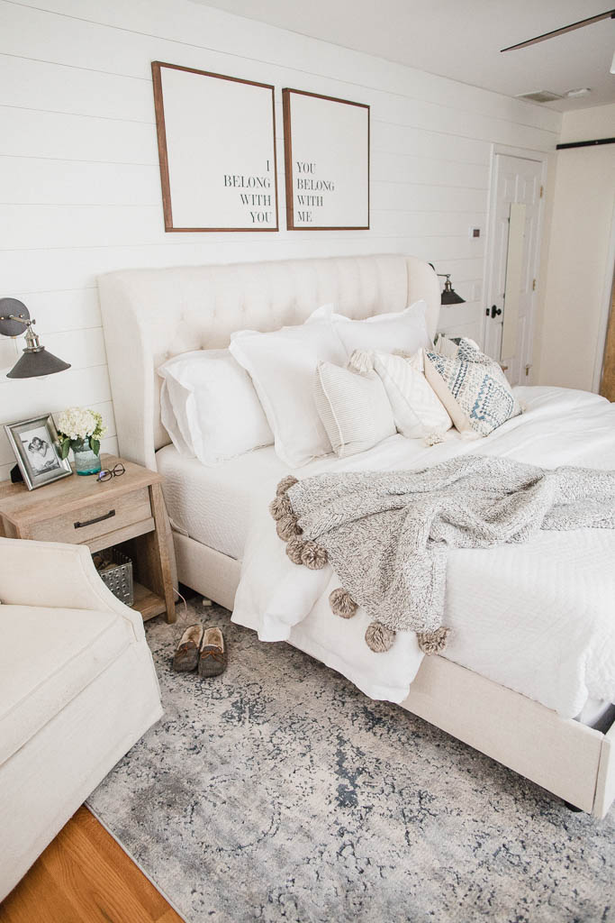 Connecticut life and style blogger Lauren McBride shares her Summer Master Bedroom featuring a bedding options from The Company Store.