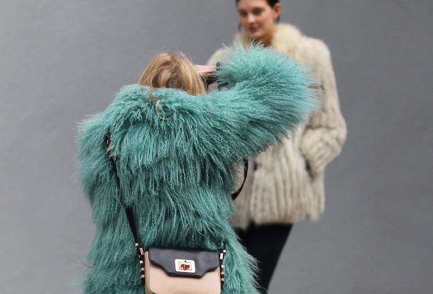 Resultado de imagen para colorful fur coats