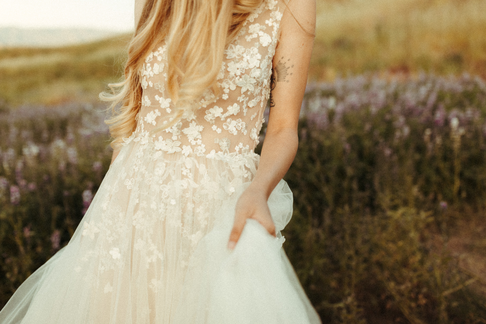 beautiful boho romantic wedding dress