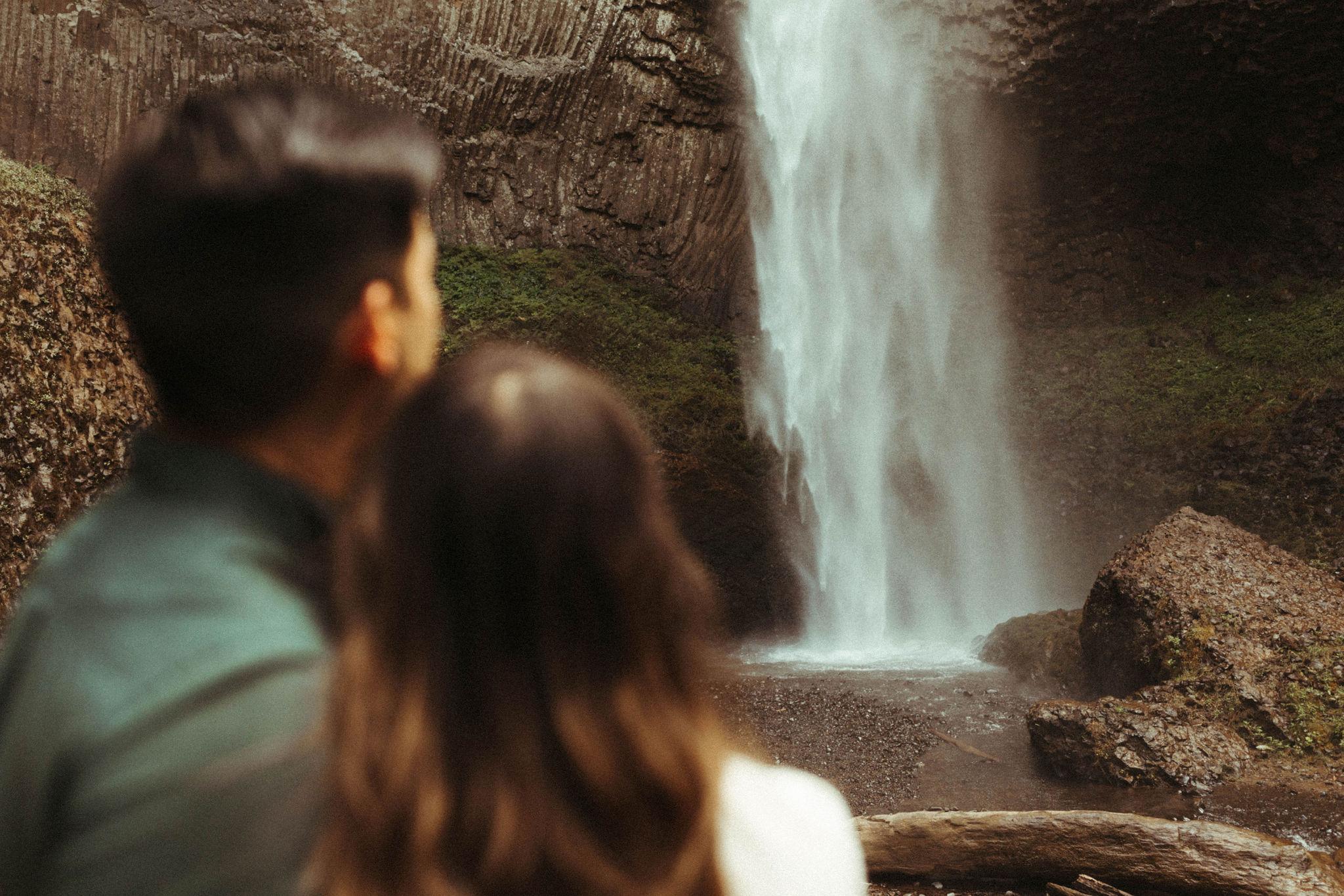 adventurous waterfall engagement oregon