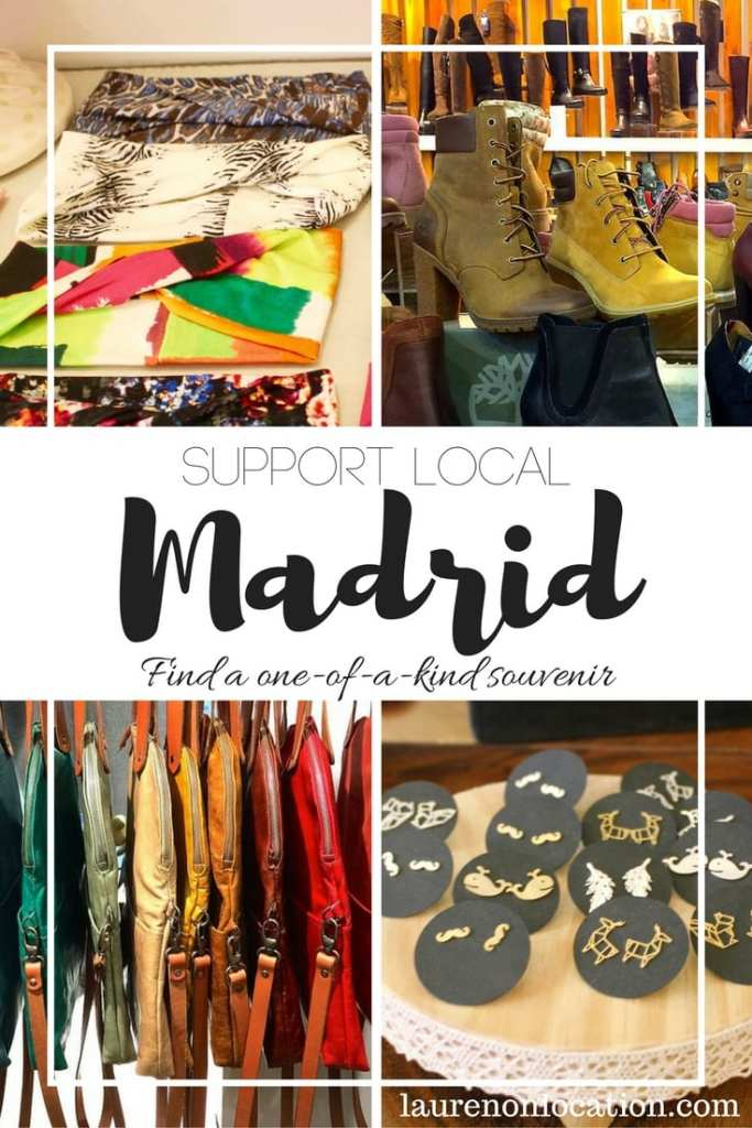 Support Local in #Madrid with a unique one-of-a-kind souvenir. Visit local designers and artists for Made in Spain merchandise.