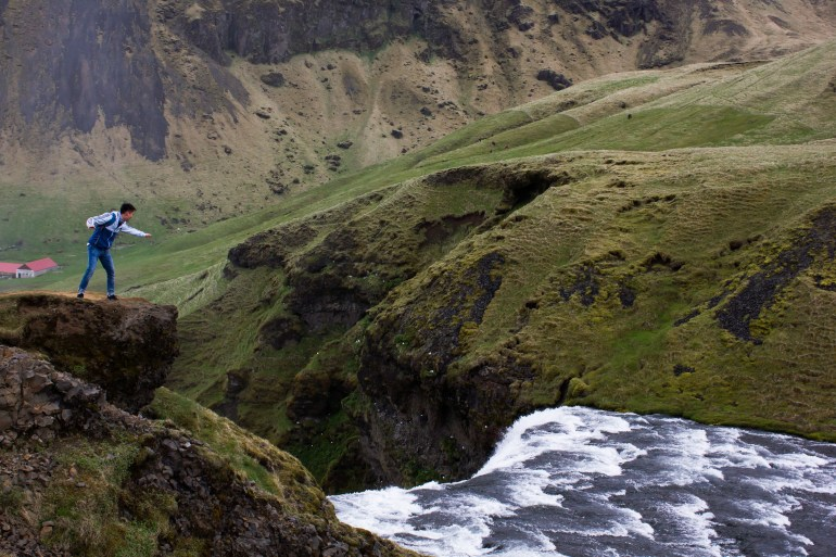 Iceland backpacking trip skogafoss waterfall