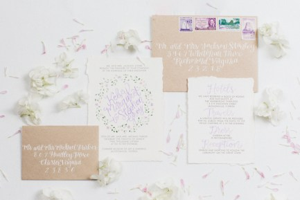 purple-green-floral-watercolor-invitation-calligraphy-kraft-vintage-stamps-envelope-4
