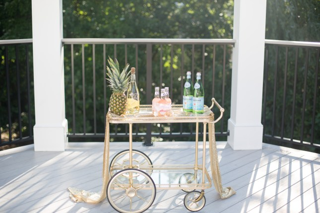 cocktail-cart-gold-pineapple-soda