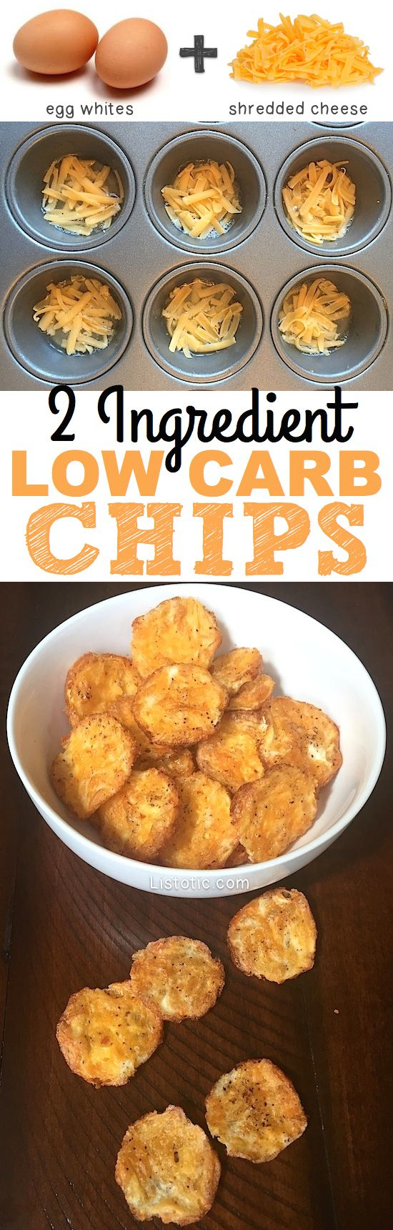 2 Ingredient Low Carb Chips