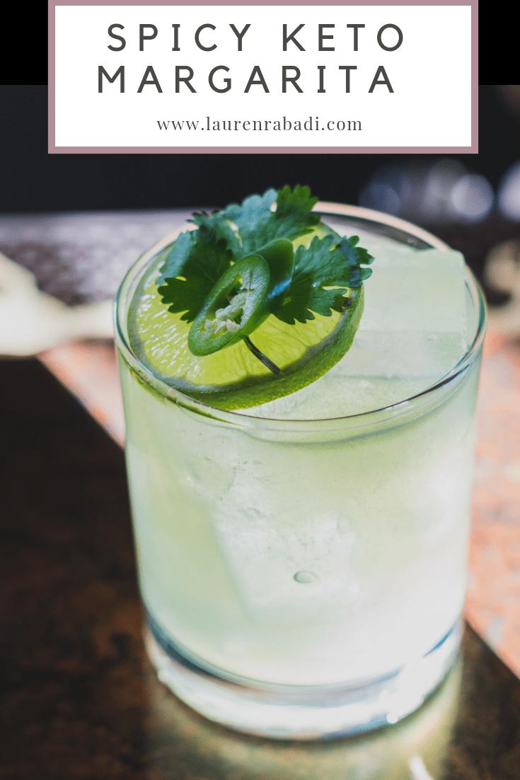 Spicy Jalapeno Keto Margarita #ketococktail #ketomargarita #ketomexican #ketocincodemayo #ketodiet #ketodrinks