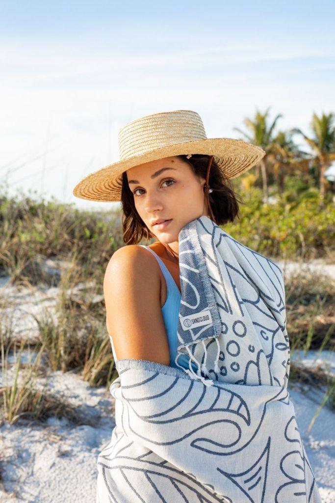 San Diego Hat Company Straw Hat Sand Cloud Boho XL Beach Towels Beach Photoshoot Summer