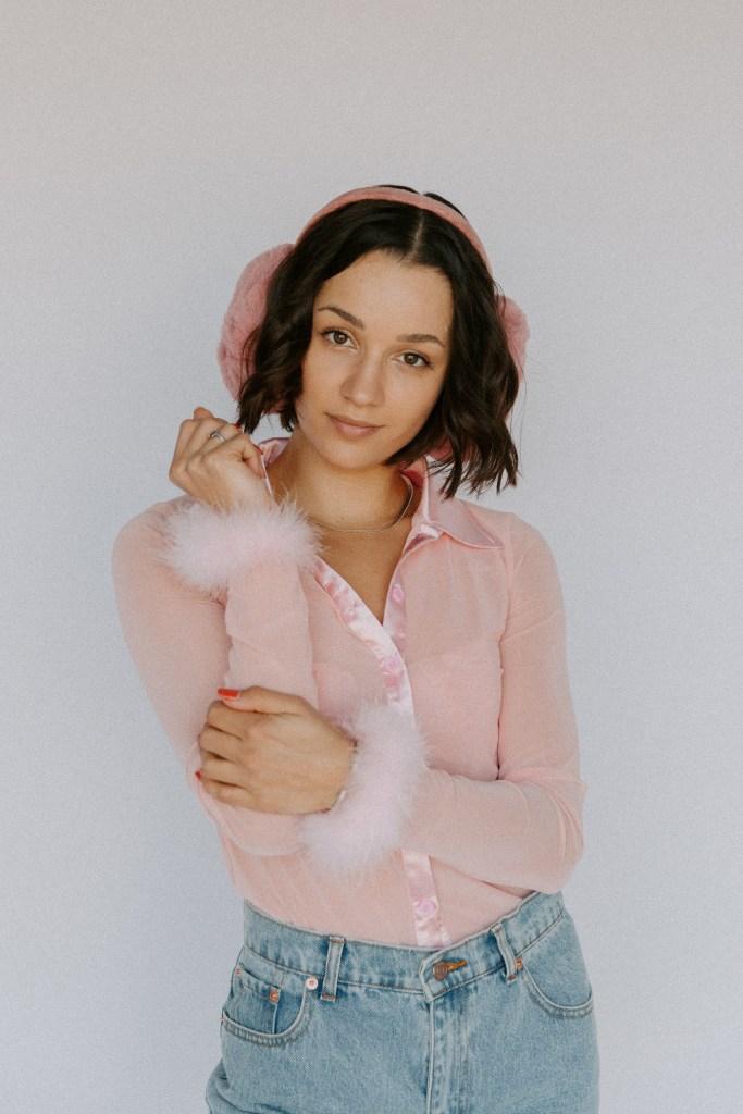 San Diego Hat Company Ear Muffs Pink Valentine's Day Photoshoot Inspiration Ideas