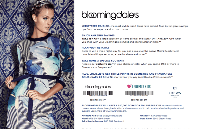 Shop with a Purpose: Bloomingdale's Florida Charity Day
