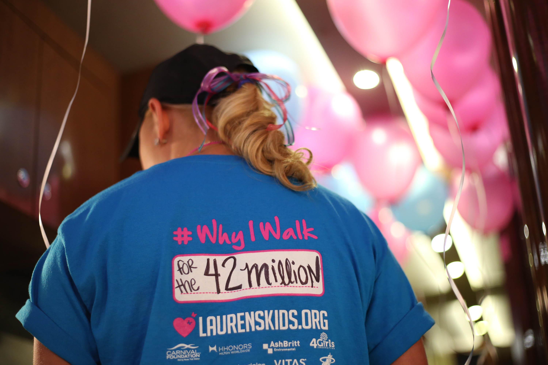 Lauren Book Walks for the 42 Million