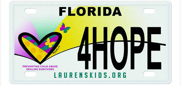 Lauren's Kids License Plate