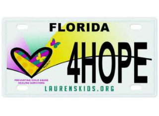 Lauren's Kids 'Love & Healing' License Plate