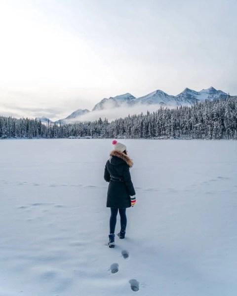 Herbert Lake, Alberta winter