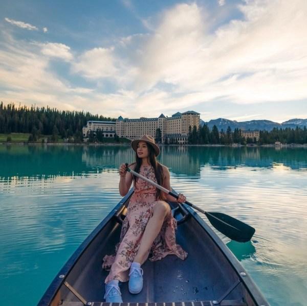 Fairmont Chateau Lake Louise Sunrise Canoe Experience
