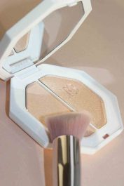 Fenty Beauty Killawatt Highighter in Lightning Dust & Fire Crystal on Lauren's Lip Glossary