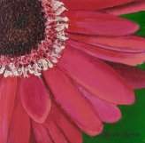 Pink Daisy; 6x6 oil on canvas