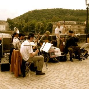 Street musicians on the Charles Bridge