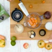 Préparation de plats sains à l'aide d'un robot Vitamix