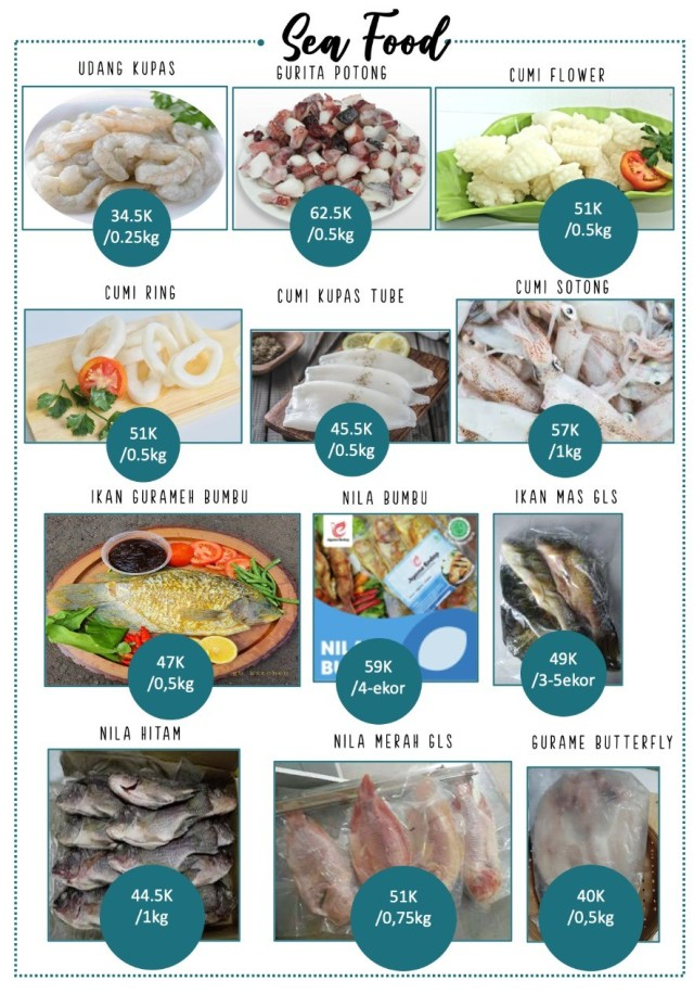frozen food seafood