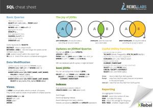 SQL - cheat sheet