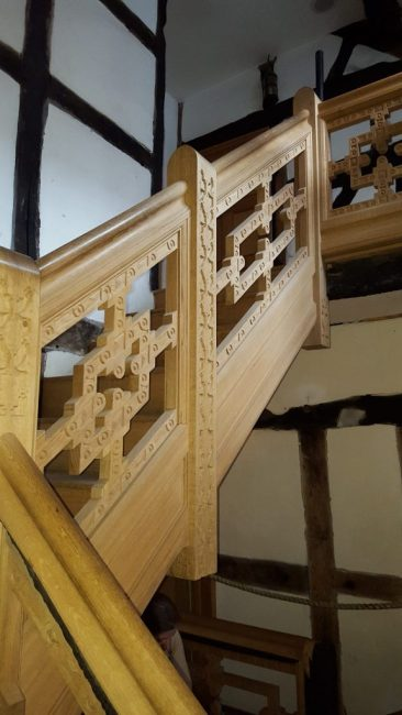 Staircase house in Stockport 17 th century reconstruction, Laurent Robert Woodcarver, new staircases