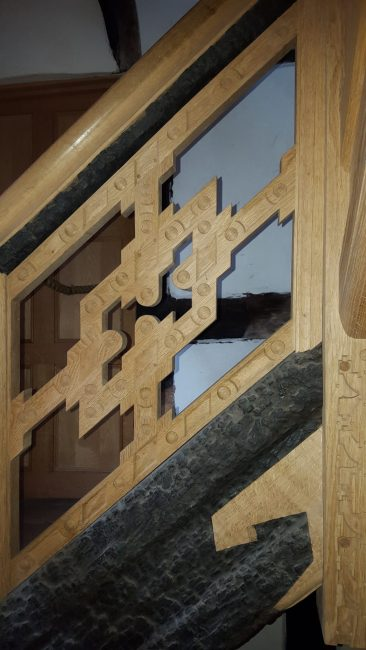 Staircase house in Stockport 17 th century reconstruction, Laurent Robert Woodcarver, staircases panel