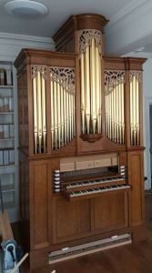 Westminster Abbey Song school, pipe organ carving by Laurent Robert wood carver