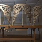 Three carved towers for St. Peter's on Capitol Hill's pipe organ