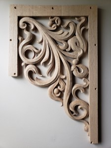 pipe shade carved in oak by Laurent Robert Woodcarver,6