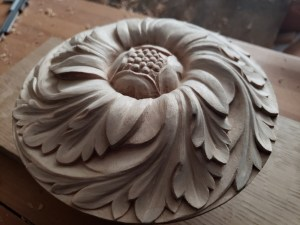 pipe organ sculptures for bruton church in williamsburg including a rosette carving by laurent robert