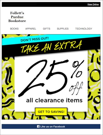 Clearance Email 3