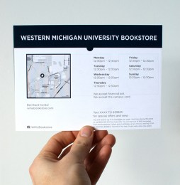 Campus Store Information Postcard