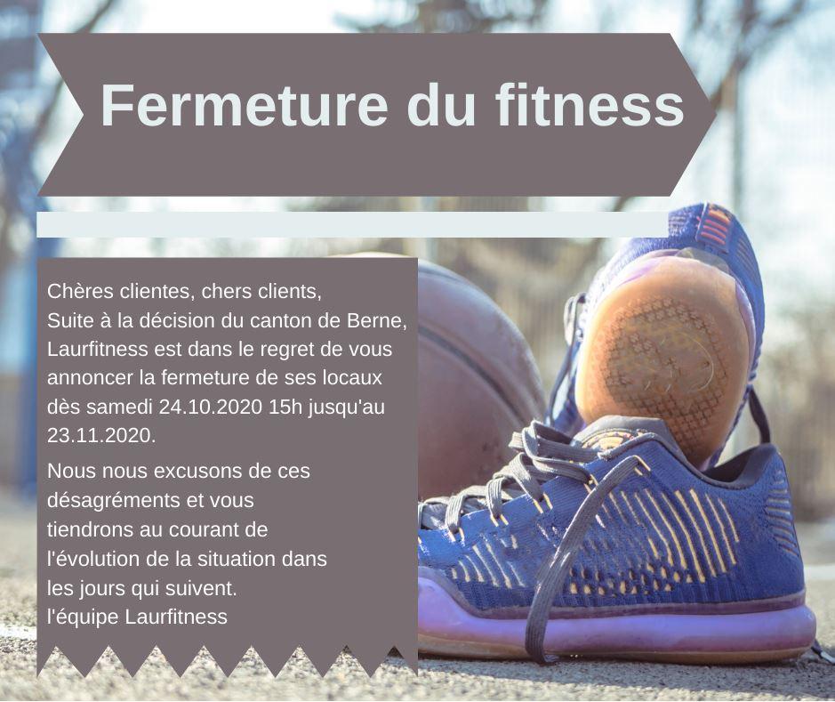 Fermeture du fitness