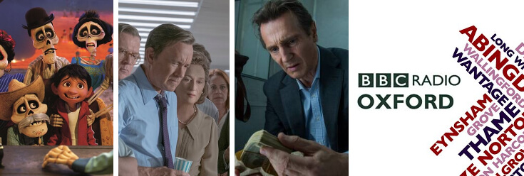 Reviews: Coco, The Post & The Commuter – BBC Oxford Hometime with Howard Bentham (18 Jan 18)