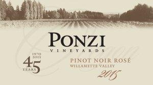 2015 ponzi pinot rose