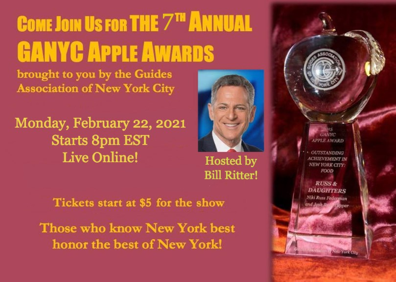 GANYC Apple Awards Monday, February 22, 8pm live online!