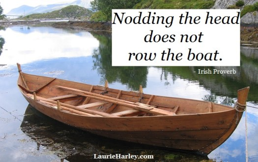 Nodding the head does not row the boat