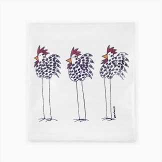 Flour Sack Towel - 3 Chickens
