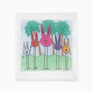 Flour Sack Towel - Bird Bunny Brigade