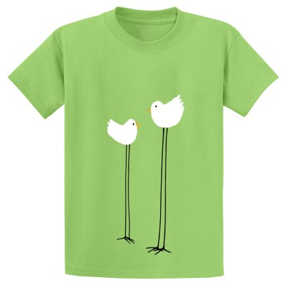 UniSex-SS-Tee-lime-long-legged-birds