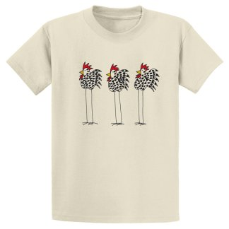 UniSex-SS-Tee-natural-3-chickens